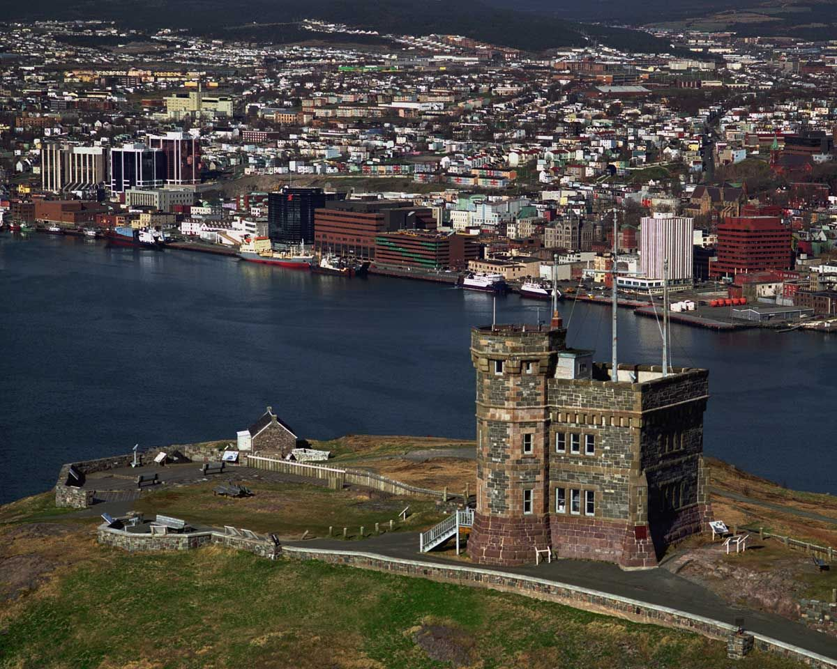 Signal Hill Overlooking St John S Harbour Newfoundland