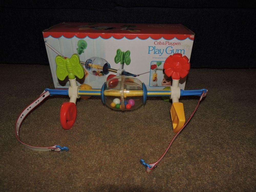 327 Vintage Fisher Price Crib Playpen Baby Activity Play