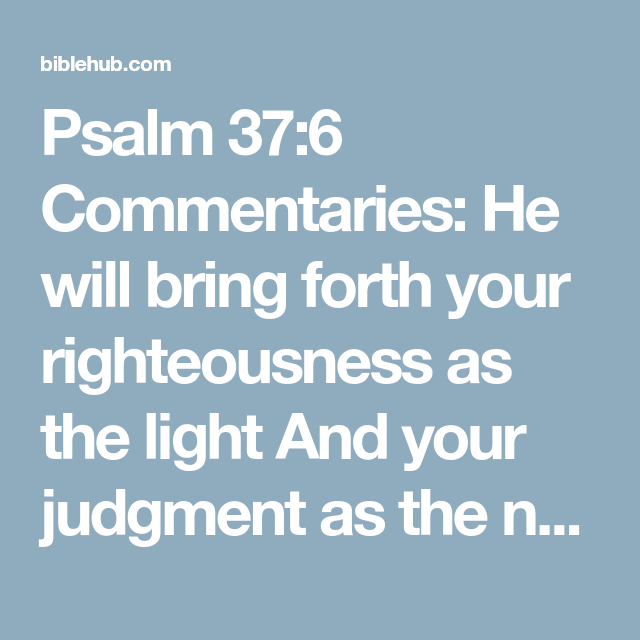 Ammco bus : Psalms 37 commentary