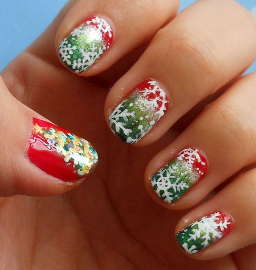 Amazincrismasideas christmas nail art amazing detail hey guys i have a nail art design for you guys today i came up with this design is for the born pretty store christmas contest prinsesfo Image collections