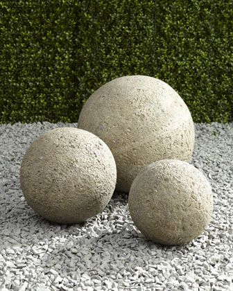 These garden balls are wonderful to add interest to any area of