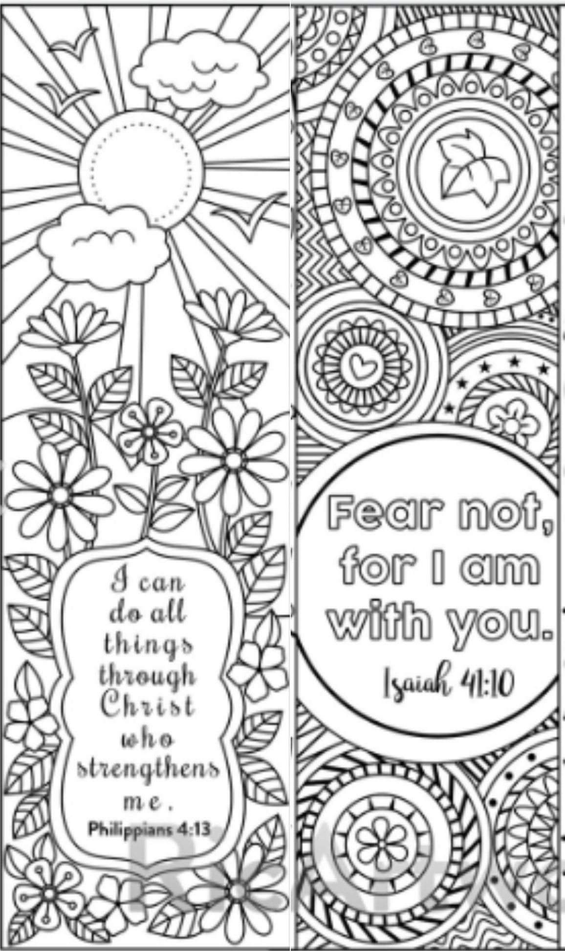 8 Bible Verse Coloring Bookmarks Bible Coloring Pages Bible