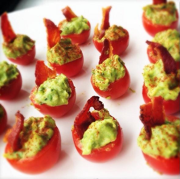 tomatoes guacamole bacon