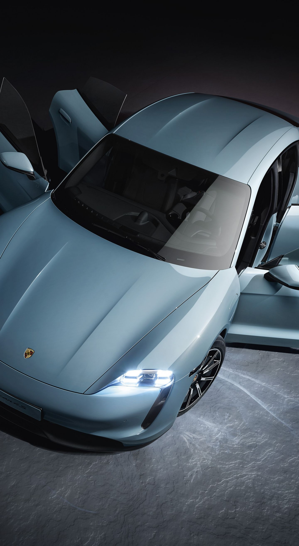 1440x2630 Sportcar, 2019 Porsche Taycan 4S wallpaper