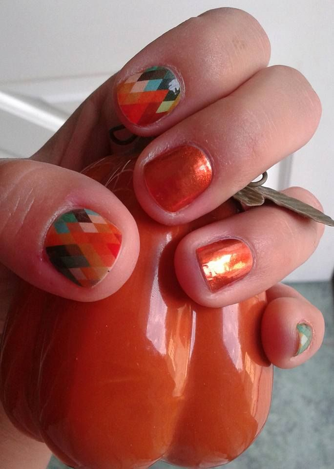 September HE 2013 and Persimmon Glimmer #jamberrynails