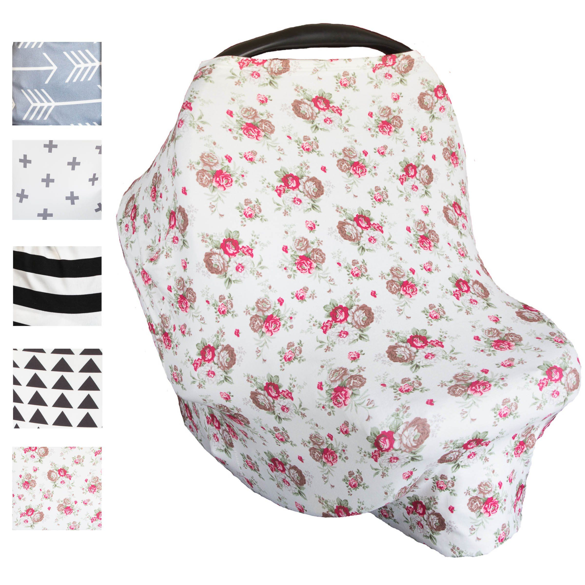Stretchy Nursing Cover – Multi Use Baby Car Seat Canopy