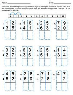 Double Digit Addition Without Regrouping Basic Math Worksheets Math Addition Worksheets Double Digit Addition