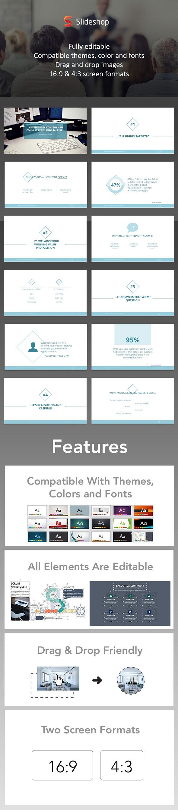 landing page powerpoint template powerpoint templates