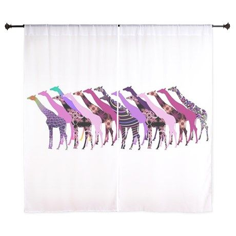 Lots of Giraffes Design 2 Curtains on CafePress.com