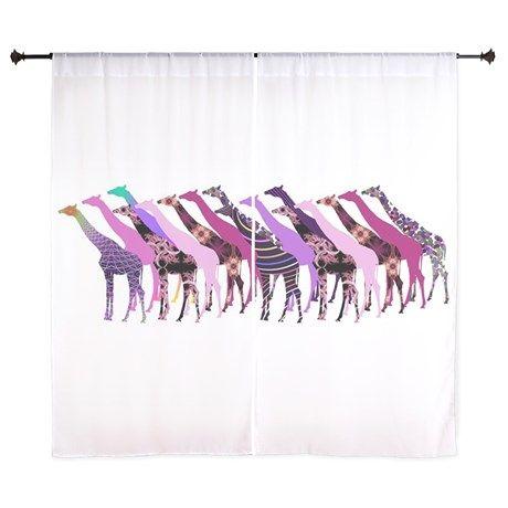 Lots of Giraffes Design 2 Curtains on CafePress.com