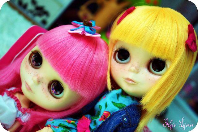 Lola Bella & Bubblegum customized by Kyi Lynn #blythe #custom #mango #guava