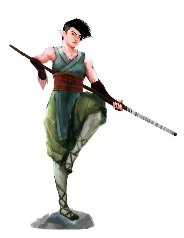 Dd Fantasy Monk Art