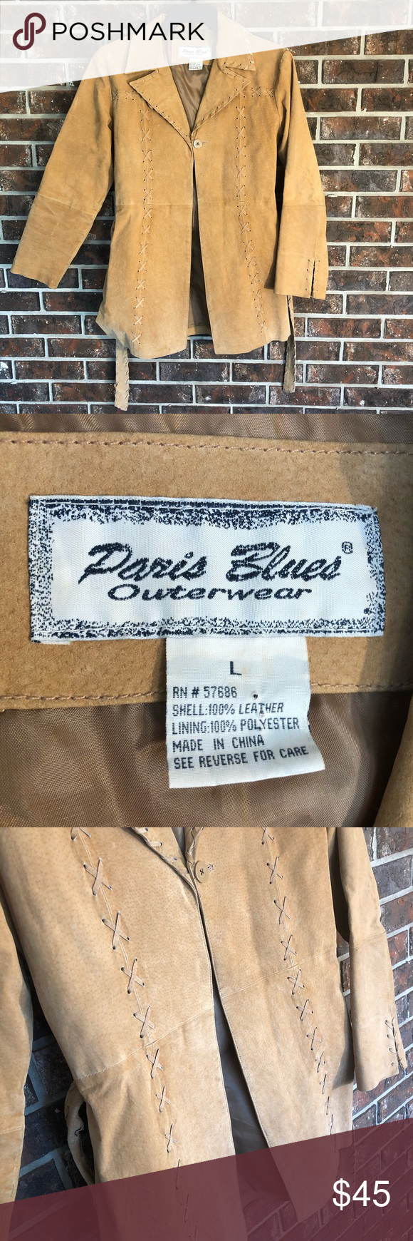 Paris Blues Outerwear Leather Jacket Paris Blues Blue Outerwear Leather Jacket [ 1740 x 580 Pixel ]