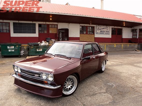 Old School Datsun 510 Dime With Imsa Style Fender Flares Packed With Modern Wheels And Rubber Datsun 510 Datsun Datsun Car
