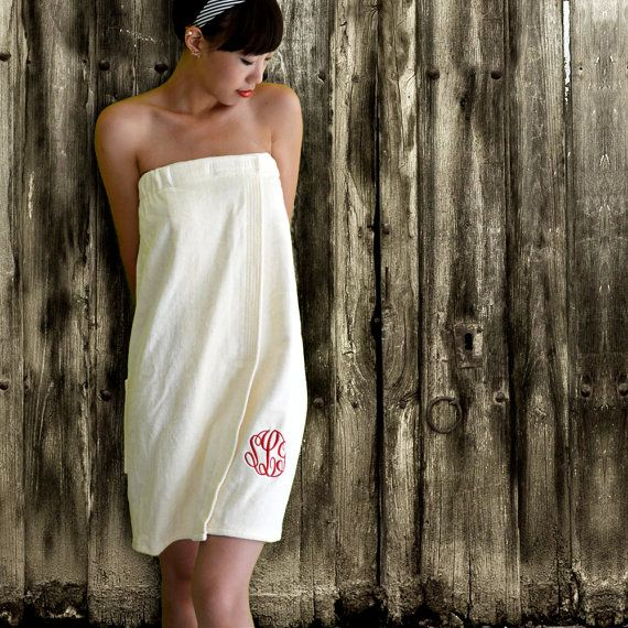 Personalized Spa Wraps in Luxurious Velour Monogrammed