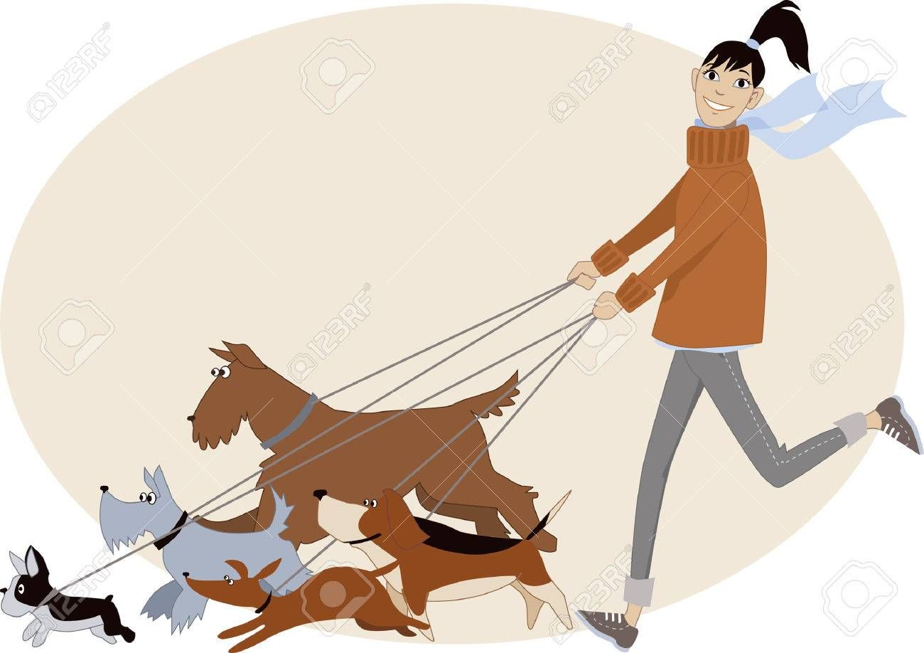 Dog Walking Pictures Clip Art Free