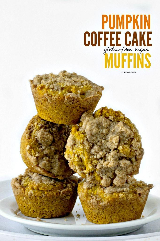 Pumpkin Coffee Cake Muffins - Fork and Beans
