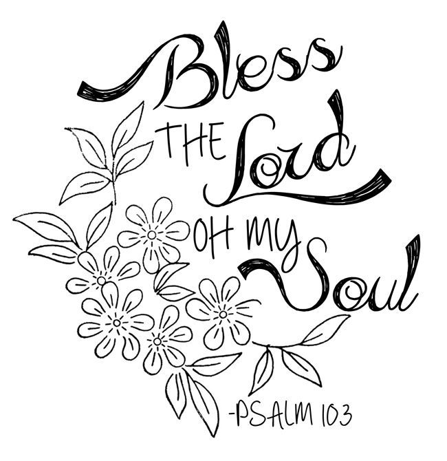 Bless the Lord oh my soul, worship His Holy name