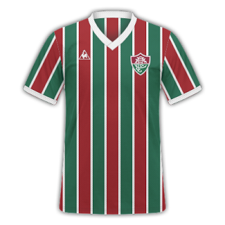103929fb5acfb Mantos Tricolores  Kit Home Fluminense 1984 - Le Coq Sportif ...