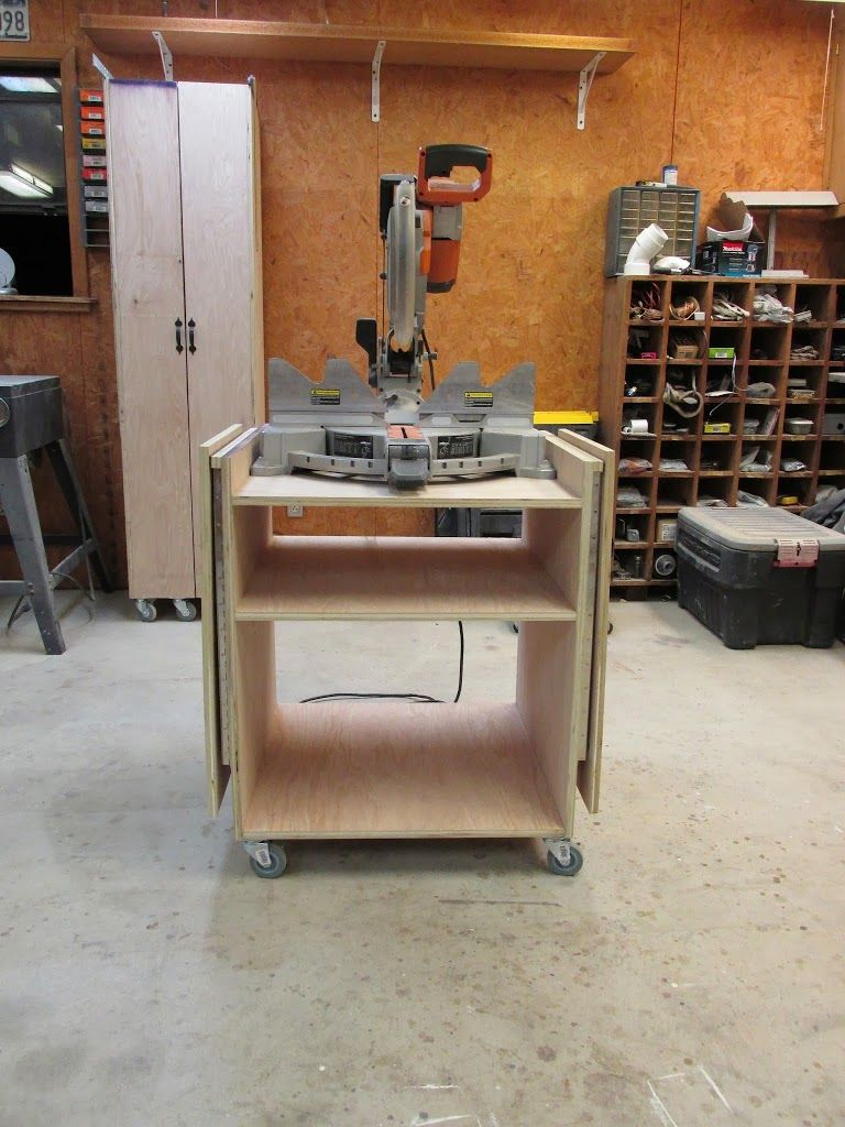 Build A Folding Miter Saw Stand Diy Tool Projects Etc