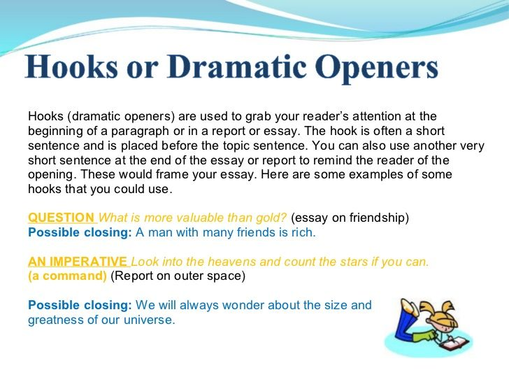 Hook Or Dramatic Openers Great For Essays Essay