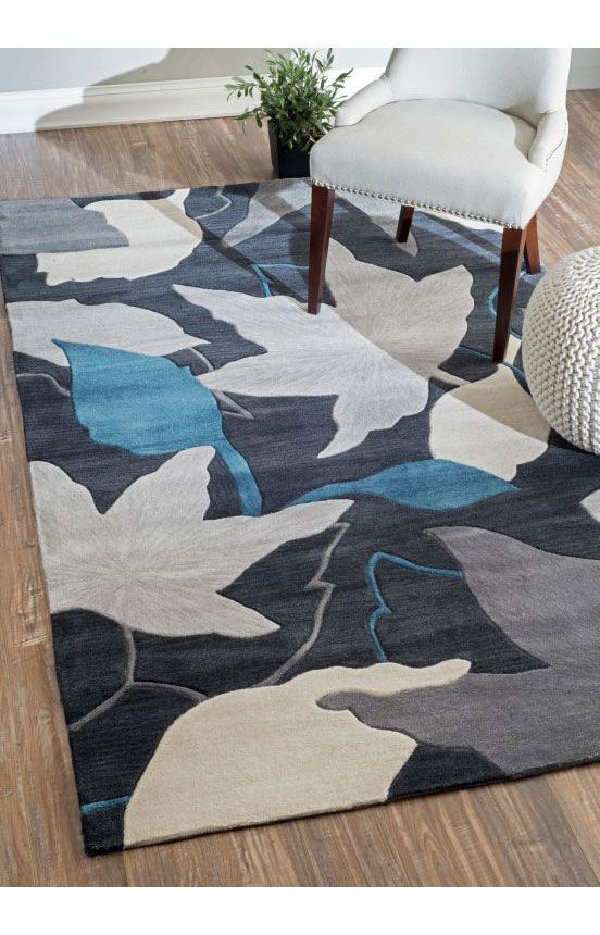 rugs usa amulet leaves tl06 blue rug rugs usa pre black friday sale 75 off area rug rug. Black Bedroom Furniture Sets. Home Design Ideas