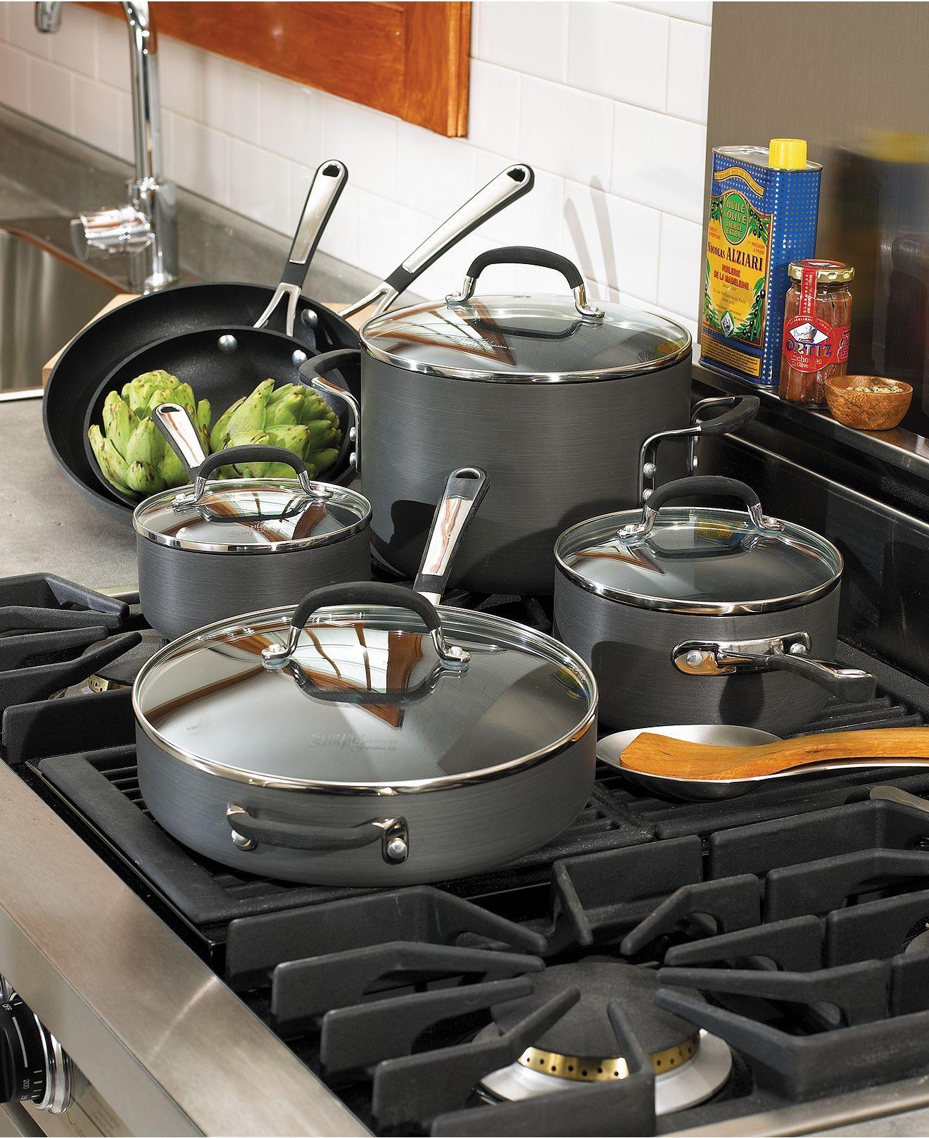 Calphalon Simply Nonstick Cookware, 10 Piece Set Kitchen
