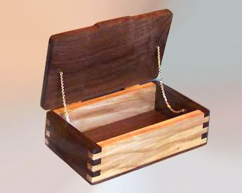 Original Custom Handcrafted Wood Boxes Decorative Walnut Ash