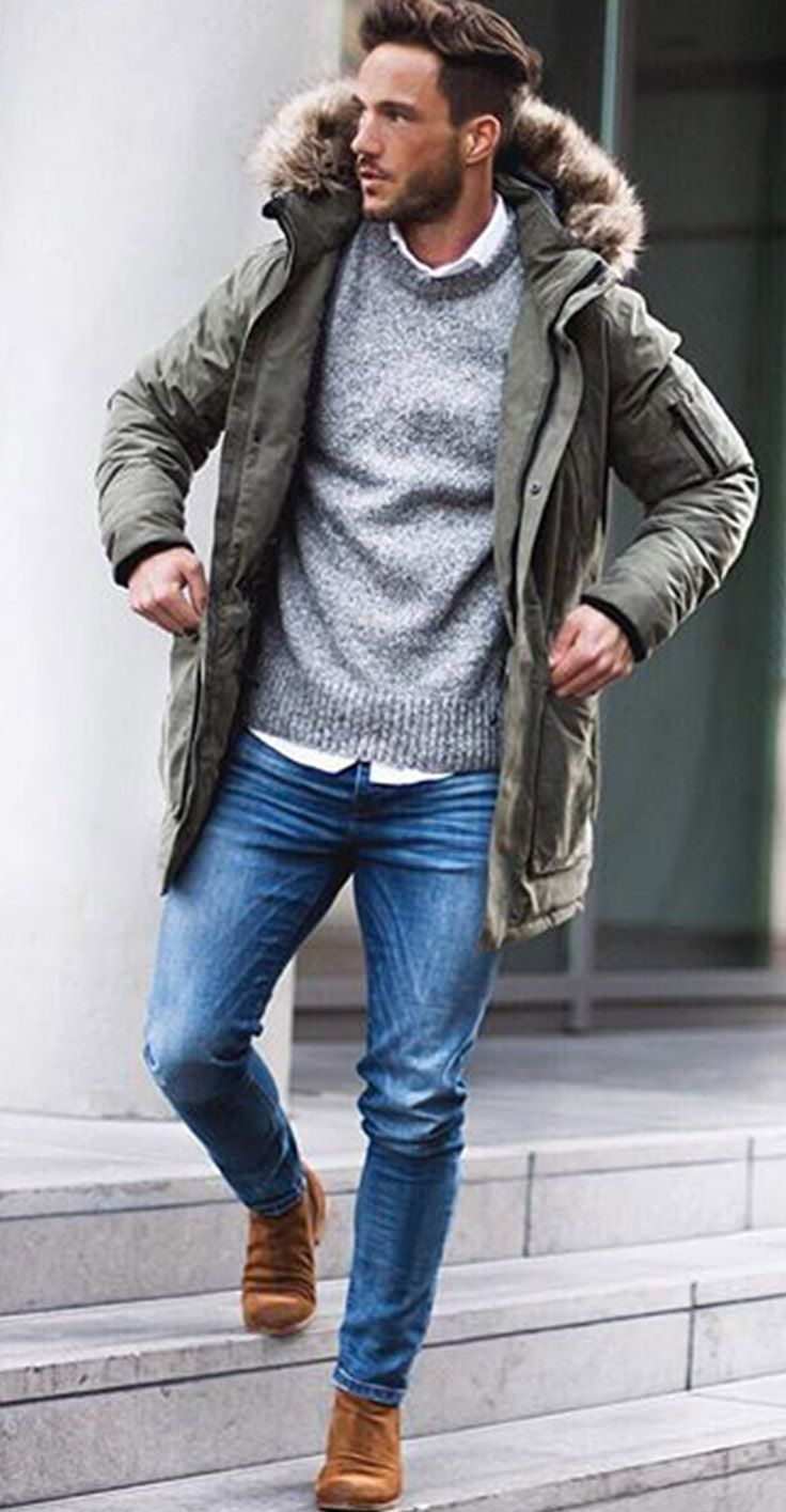 Fashion Winter style men pictures images