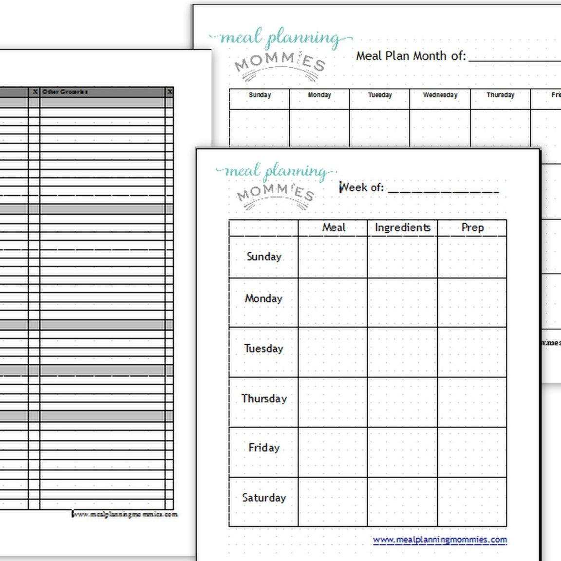Pin On Weight Watchers Weight watchers meal planner template