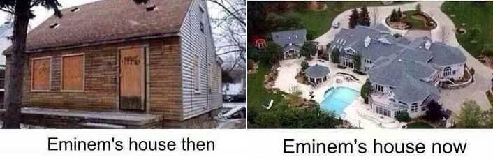Now And Then Eminem S House Eminǝm 3 Eminem Slim Shady