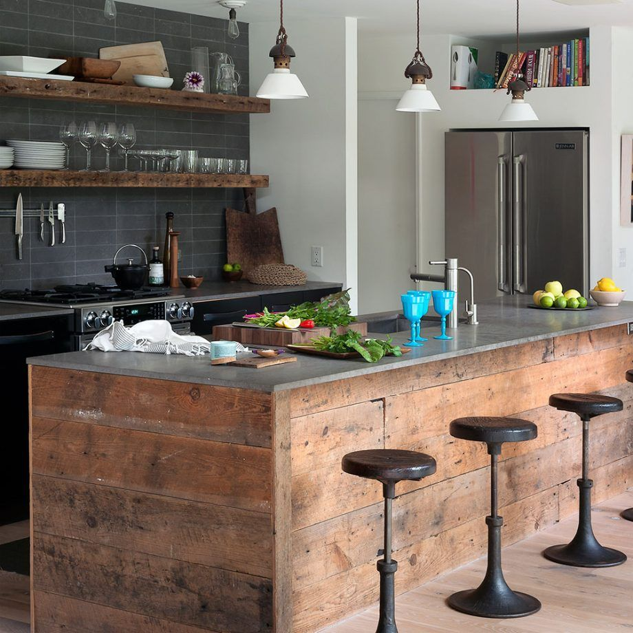 Kitchen Island Ideas Kitchen Island Ideas With Seating Lighting And Stools Industrial Style Kitchen Industrial Decor Kitchen Urban Kitchen