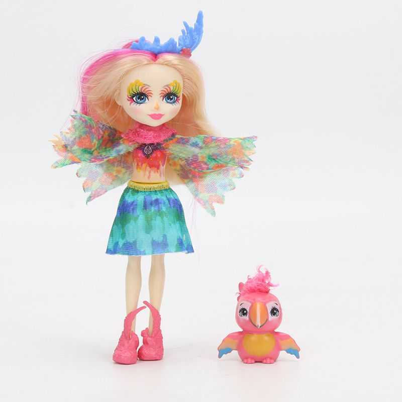 "Peeki Parrot /& Sheeny Enchantimals 6/"" Doll"