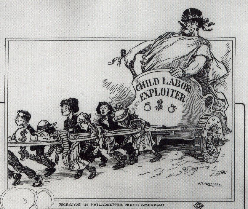 This Cartoon Depicts How The Companies Controlled Child Labor And