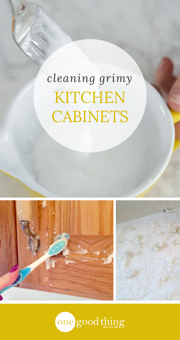 How to clean grimy kitchen cabinets with ingredients learning
