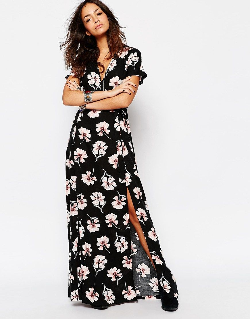 Image 1 of New Look Floral Wrap Front Maxi Dress | My Style ...
