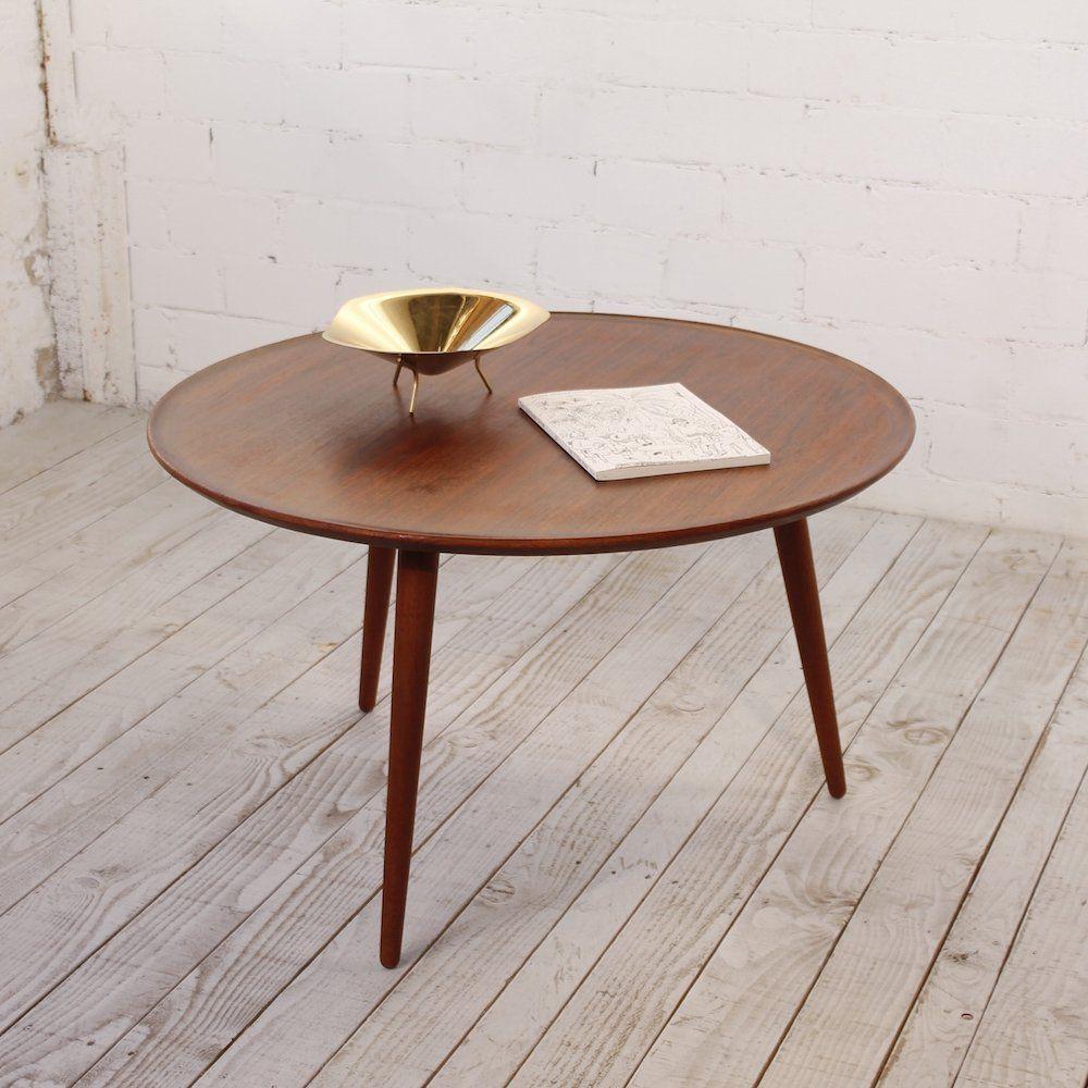 For Sale Round Scandinavian Teak Tripod Coffee Table 1960s Table Scandinavian Coffee Table Coffee Table [ 1000 x 1000 Pixel ]