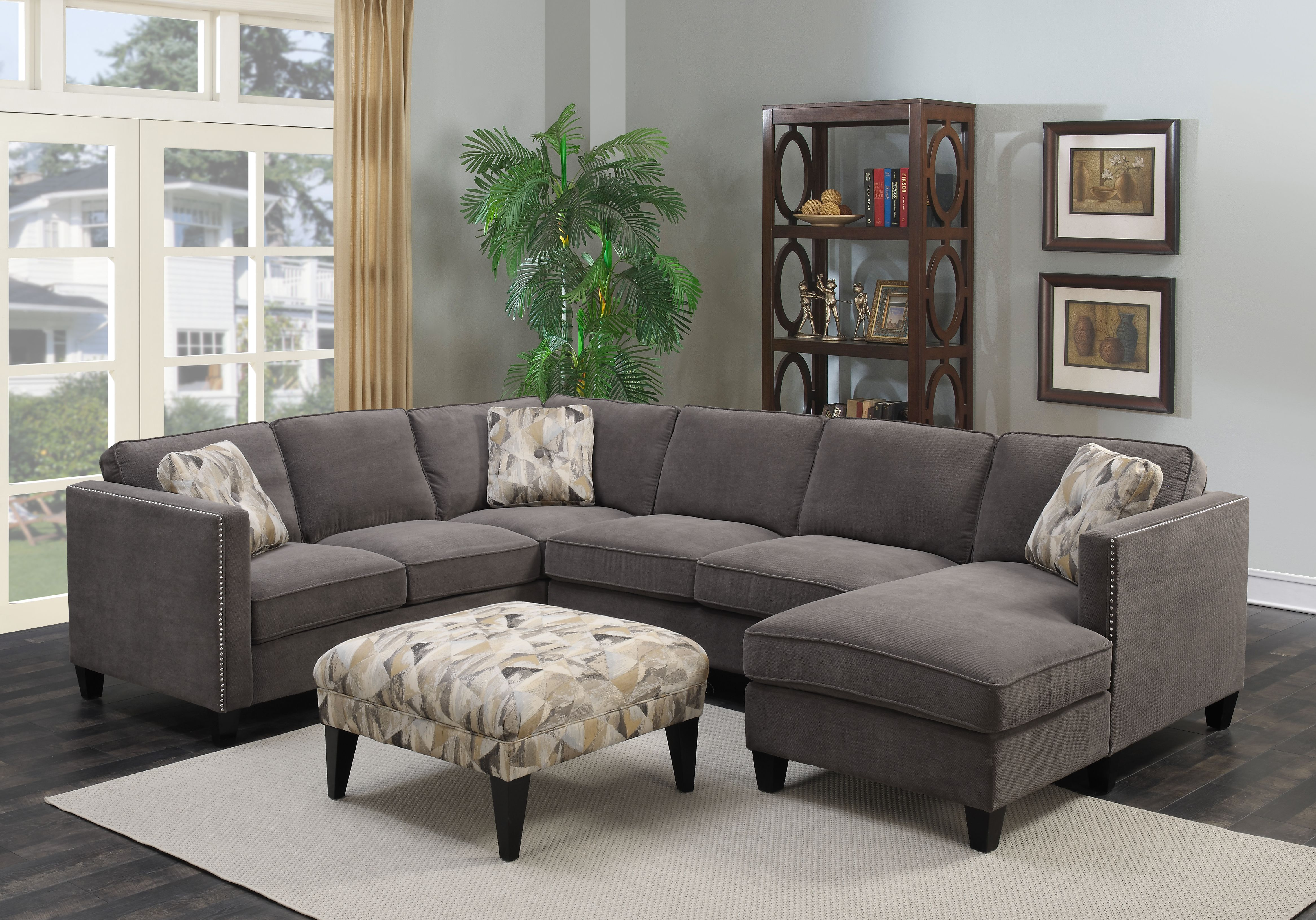 Focus U4286 More Colors Available Emerald Home Furnishings Living Room Sectional Furniture Home Furnishings