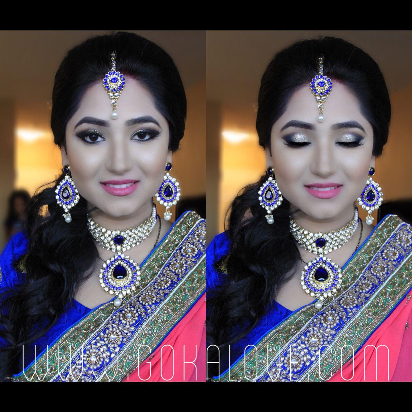 bride's makeup and hair! :) indian wedding, makeup artist