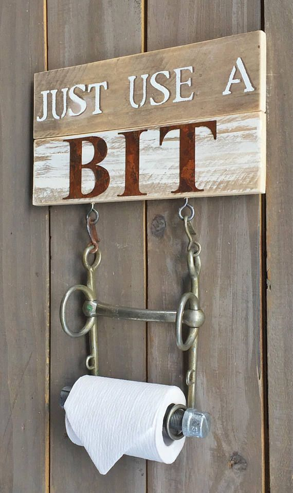Add A Horse Bit Toilet Paper Holder To Your Rustic Farmhouse Bathroom A Unique Look That Seems To Belong In T Horse Decor Equestrian Decor Country House Decor