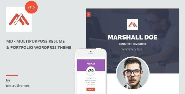 MD u2013 Multipurpose Portfolio WordPress Theme Creative portfolio - wordpress resume themes