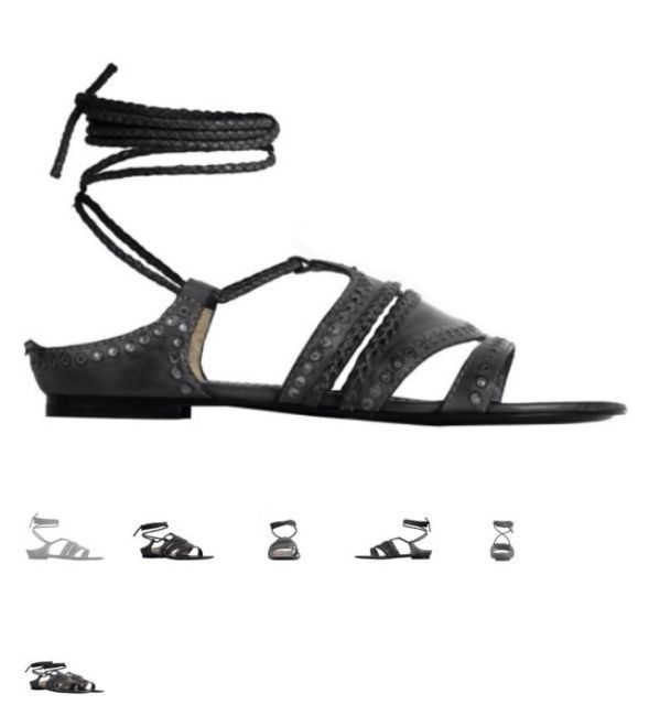 Allsaints Sevilla Flat Sandal, women's summer sandals.  UK 7