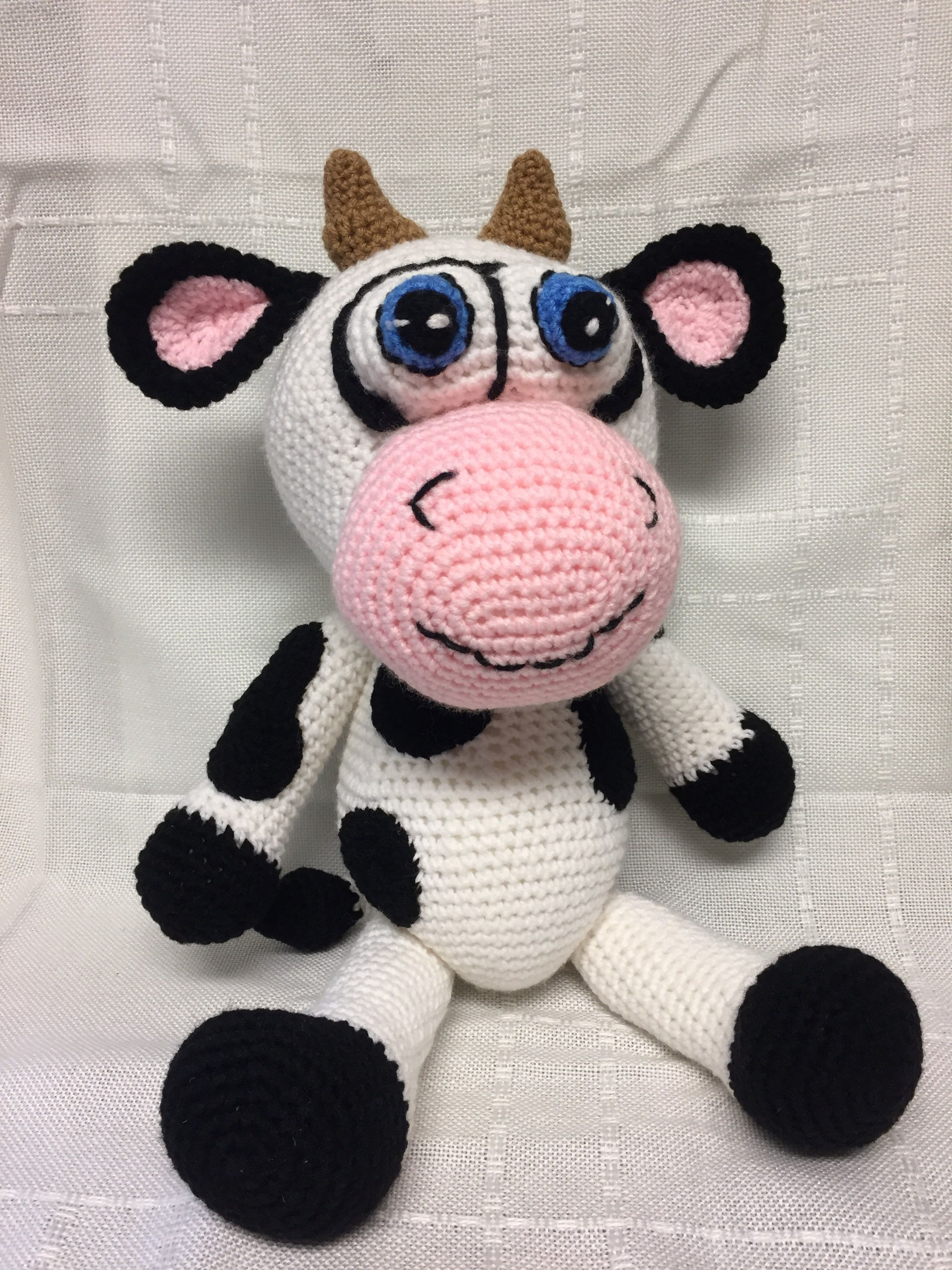 Homer the crocheted cow - found on etsy @memawscountrycrafts