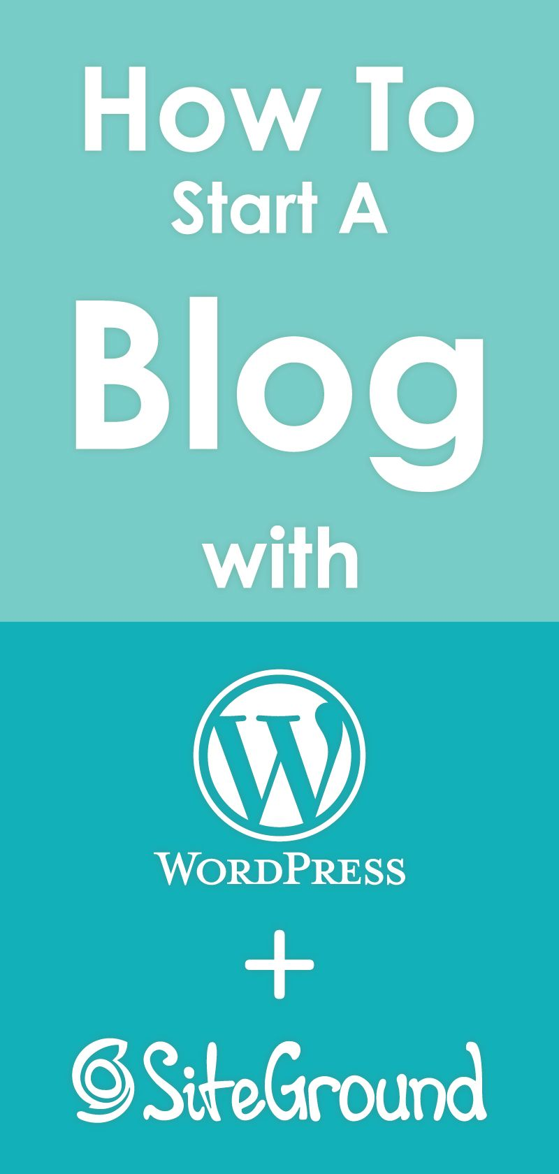 $3. 95 how to start a blog with wordpress and siteground. Ready to.