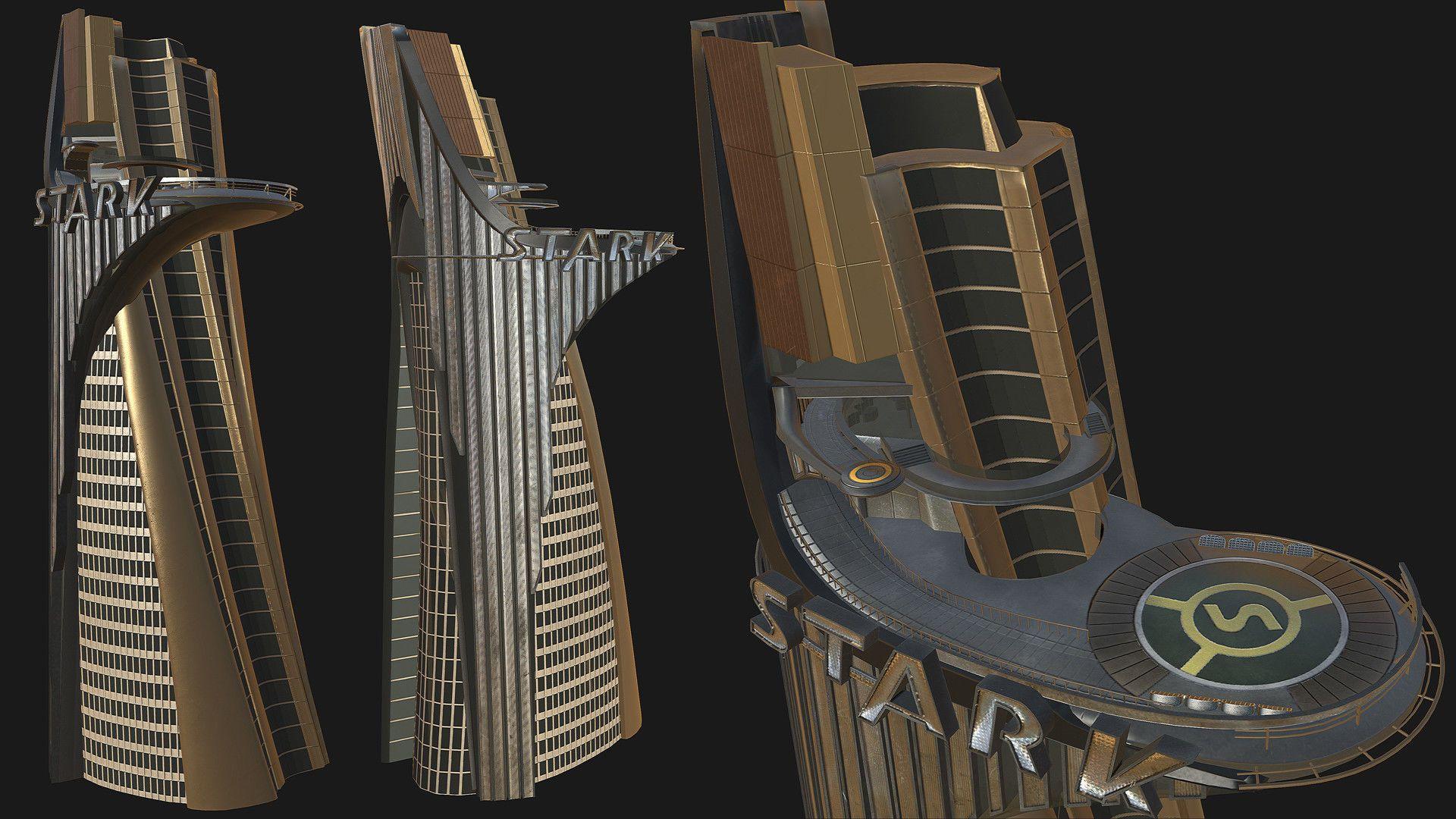Stark Tower Game mesh 3D model Pinterest
