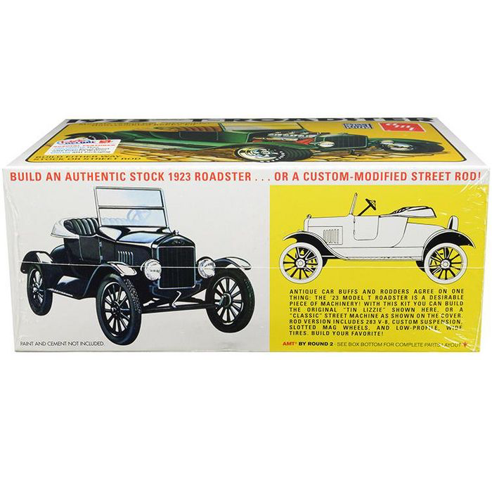 Skill 2 Model Kit 1923 Ford Model T Roadster 2 In 1 Kit 1 25 Scale Model By Amt Target Car Model Roadsters Model Cars Collection