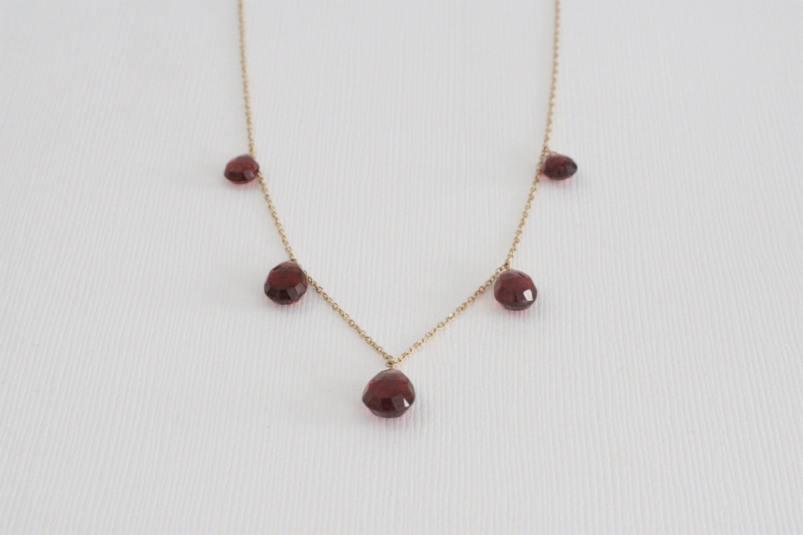 one pin with necklace sibley by worn mary woven garnet sterling red season a and