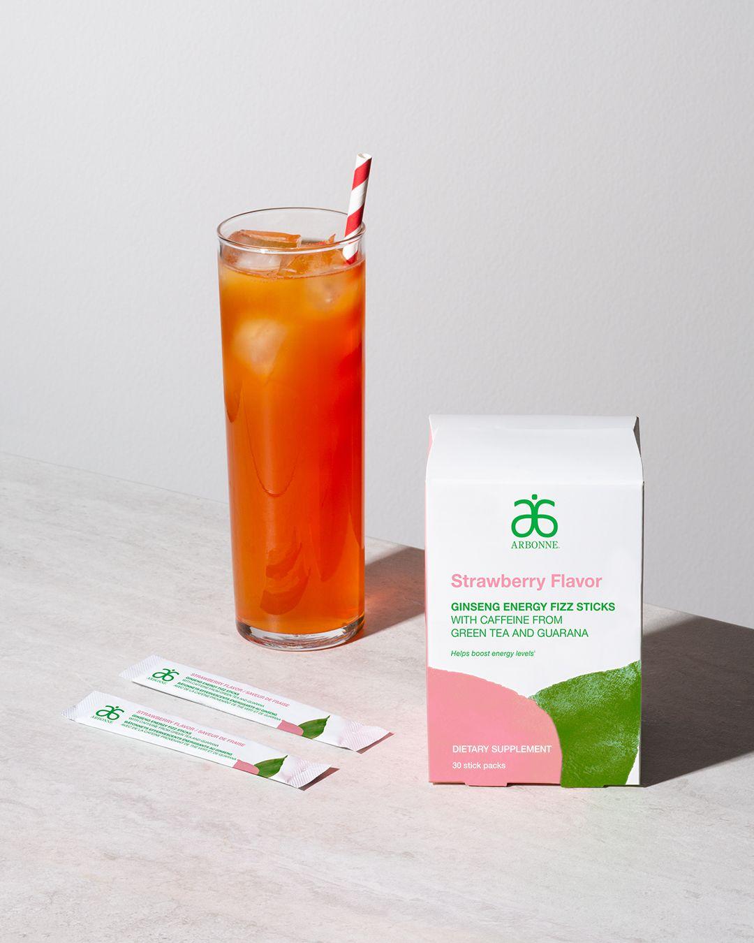 New Energy Fizz Stick Strawberry Flavor 2111 In 2020 Fizz Sticks Strawberry Fizz Arbonne