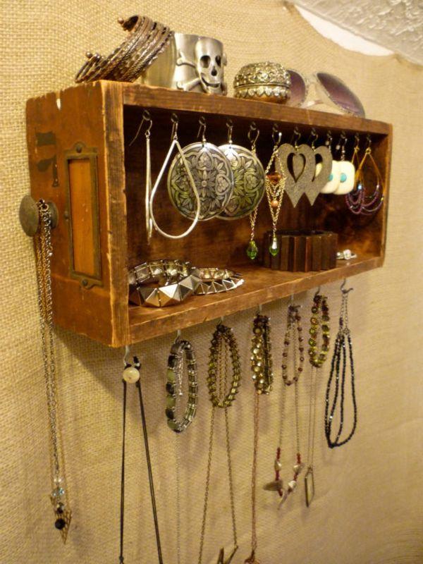 Schmuckständer-selber-machen-aus-holz-gemacht | Diy | Pinterest ... Holz Deko Selber Machen