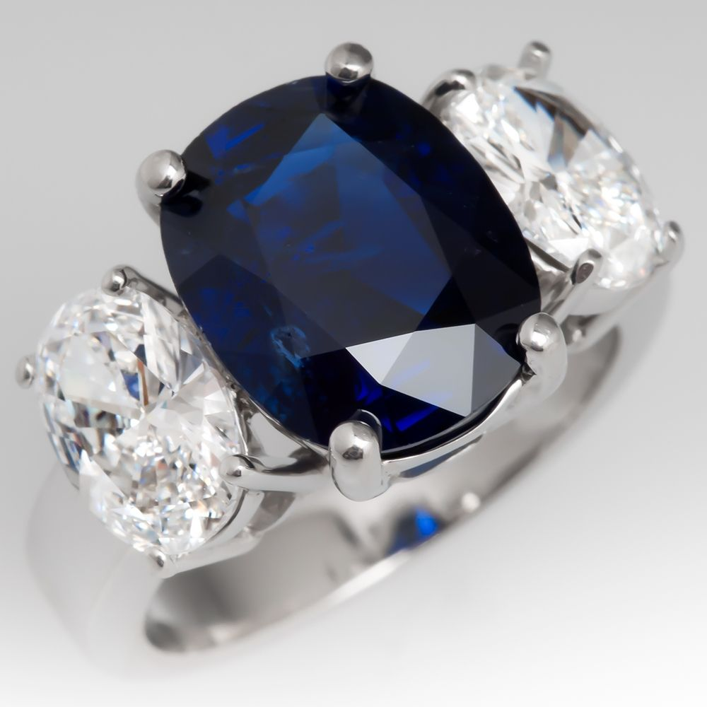 ring sapphire blue tw certified unheated burma natural ct grs